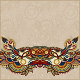 Paisley design on decorative floral background for Stock Photography