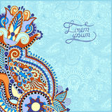 Paisley design on decorative floral background Royalty Free Stock Images