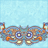 Paisley design on decorative floral background for Royalty Free Stock Images