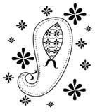 Paisley design element. Illustration of a whimsy paisley design element vector illustration