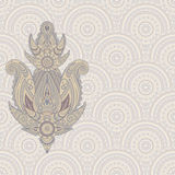 Paisley design element on seamless pattern Stock Images