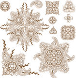 Paisley design elements set Stock Photography