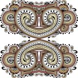 Paisley design, ethnic tribal pattern Stock Photography