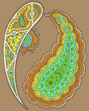 Paisley design set Royalty Free Stock Photo