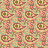Paisley Doodle Pattern Stock Photography