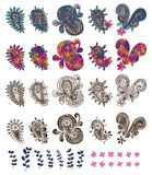 Paisley drawing set Stock Photography