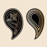 Paisley element royaltyfri illustrationer