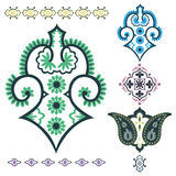 Paisley elements. Indian paisley vector design elements Royalty Free Stock Image