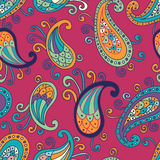 Paisley elements seamless pattern Royalty Free Stock Photo