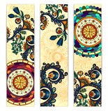 Paisley ethnic batik backgrounds Royalty Free Stock Photography