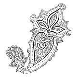Paisley. Ethnic ornament. Om Aum Symbol. Royalty Free Stock Photos