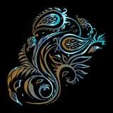 paisley etnisk prydnad Tappningvektoruppsättning royaltyfri illustrationer