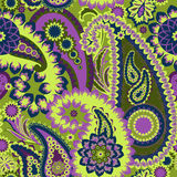 Paisley färgrik bakgrund. Royaltyfria Foton