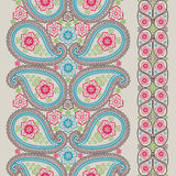 Paisley fabric seamless border.Vintage Royalty Free Stock Photo