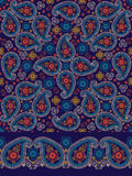 Paisley fabric seamless  pattern and border Royalty Free Stock Image