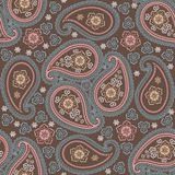 Paisley fabric seamless pattern.Oriental ornament Royalty Free Stock Photos
