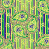 Paisley fabric seamless vector pattern. Orient orn Royalty Free Stock Images