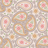 Paisley fabric seamless vector pattern.Retro Stock Images