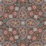 Paisley fabric seamless vector pattern Royalty Free Stock Photo