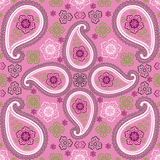 Paisley fabric seamless vector pattern Stock Photography