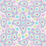 Paisley fabric seamless vector pattern Royalty Free Stock Images