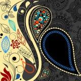 Paisley festive background Stock Images