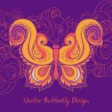 Paisley fjäril vektor illustrationer