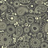 Paisley floral seamless background Royalty Free Stock Photography