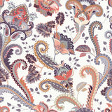 Paisley floral seamless pattern. Indian ornament. Vector decorative flowers and Paisley. Ethnic style. Design for Royalty Free Stock Image