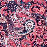 Paisley floral seamless pattern. Indian ornament. Vector decorative flowers and Paisley. Ethnic style. Design for Royalty Free Stock Photos