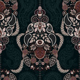 Paisley floral seamless pattern. Indian ornament. Vector decorative flowers and Paisley. Ethnic style. Design for Stock Photography