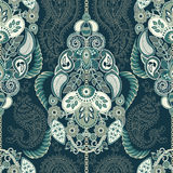 Paisley floral seamless pattern. Indian ornament. Vector decorative flowers and Paisley. Ethnic style. Design for Royalty Free Stock Images