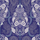Paisley floral seamless pattern. Indian ornament. Vector decorative flowers and Paisley. Ethnic style. Design for Stock Image