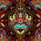 Paisley floral seamless pattern. Indian ornament. Vector decorative flowers and Paisley. Ethnic style. Design for Stock Photo