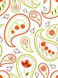 Paisley floral sem emenda ilustração do vetor