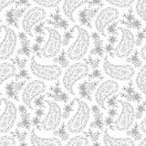 Paisley Floral Textile Pattern. Stock Images