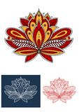 Paisley flower with ethnic persian ornaments Royalty Free Stock Photos