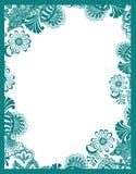 Paisley flower frame Royalty Free Stock Photo
