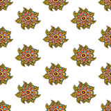 Paisley and flower traditional asian or indian Royalty Free Stock Image