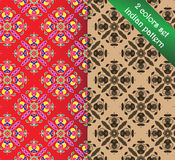 Paisley and flower seamless vector patterns. Royalty Free Stock Image