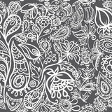 Paisley and flowers  seamless. Paisley seamless Turkish cucumber and flowers (ornament Stock Images