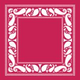 Paisley Frame. Pretty Paisley surround use as frame fabric pattern scarf or blanket background (separate pieces grouped in vector format Royalty Free Stock Images