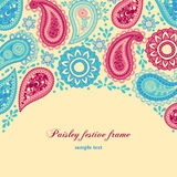 Paisley frame Stock Photo