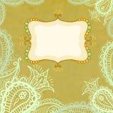Paisley frame Stock Image