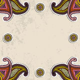 Paisley frame Stock Images