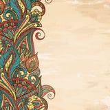 Paisley Frame. Paisley ethnic decorative border. Frame for text royalty free illustration