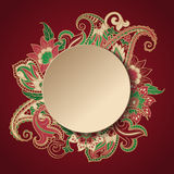 Paisley frame Stock Photography