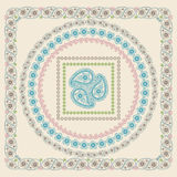 Paisley frame set .Vector Oriental motif Royalty Free Stock Photo