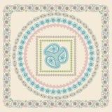 Paisley frame set .Vector Oriental motif stock illustration