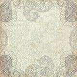 Paisley grungy frame background Royalty Free Stock Image
